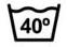 Temperatura máxima de lavado 40°